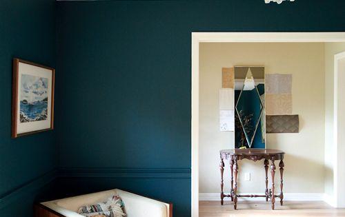 Benjamin Moore Dark Harbor Paint - ENTRANCE WALL colour (?) with Nataraj