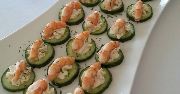 Cucumber bites with shrimp and dill | My food creations ...
