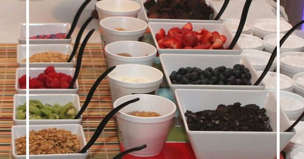 a frozen yogurt bar for wedding celebrations or other