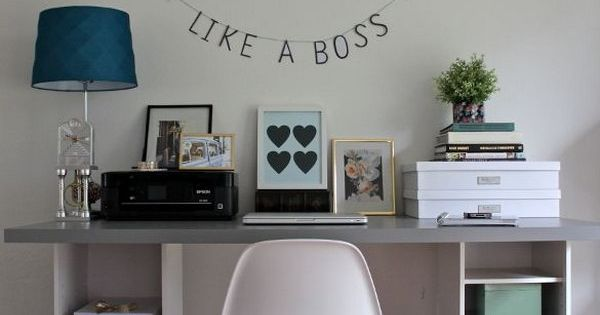 20 cool and budget ikea desk hacks more butcher block