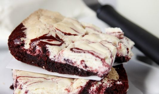 Red Velvet Cream Cheese Brownie Recipe