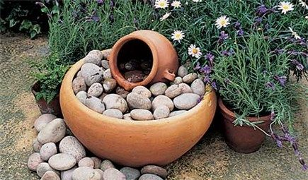Step By Step Water Fountain Instructions Diy Water Feature Water Features In The Garden Garden Fountain