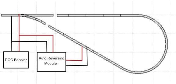 Wiring For A Dcc Autoreversing Module Model Trains Model Railway Track Plans Model Train Layouts