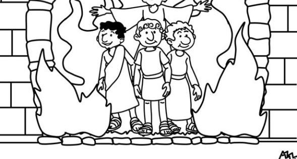 the fiery furnace coloring pages - photo#13
