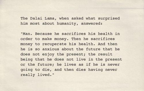 Dalai Lama man's life