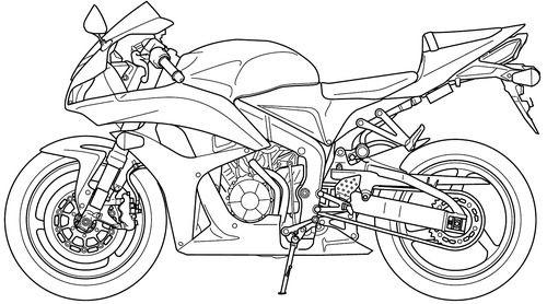 Blueprints Motorcycles Honda Honda Cbr 600rr 2008 Honda Cbr Cbr 600rr Cbr