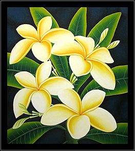 Canvas Painting Of Plumeria 5 Flower Painting Canvas Acrylic Painting Flowers Easy Flower Painting