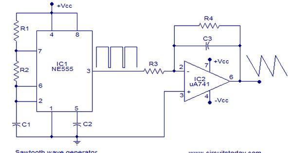 Sawtooth Wave Generator Circuit Design Electronic Circuit Design Sawtooth