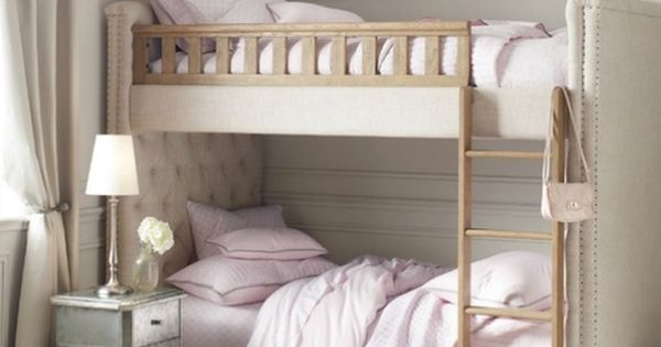 Kids room love the upholstered bunk bed neat great for Bunk bed alternative