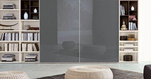 ... in vetro verniciato grigio piombo  Napol.it  Soggiorno  Pinterest