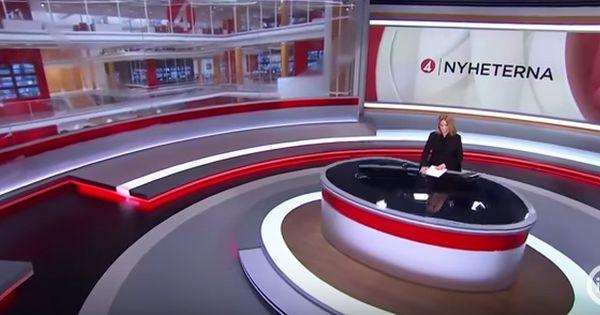 Tv4 Nyheterna Ws Virtual Studio News Studio Virtual Reality