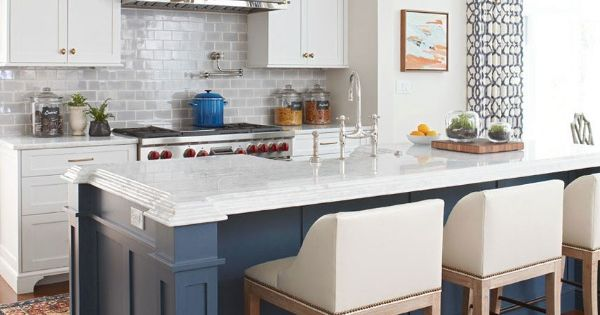 Gray Blue Subway Tile With A Variegated Crackle Finish