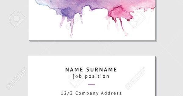 Beautifully designed watercolor business cards for Visitenkarten ideen