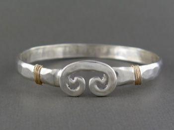 Petroglyph 6m 2 Tone 190 00 Silver Bangles Bracelet Designs Hook Bracelet