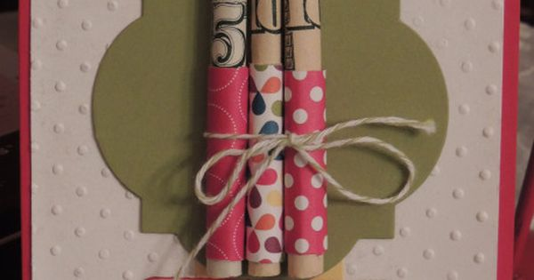 Money candles birthday card - great idea instead of gift cards