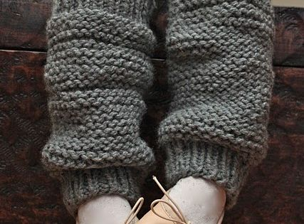 Winter knitting project: leg warmers for the kids