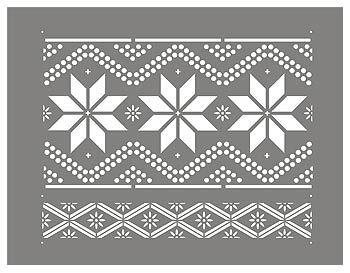 Nordic Pattern Stencil 1 Henny Donovan Motif Scandinavian Quilts Pattern Nordic Snowflake