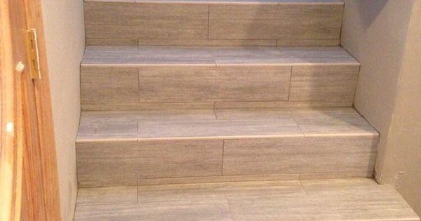 Porcelain Wood Plank Stairs Schody P Ytki Pinterest Cas Tile
