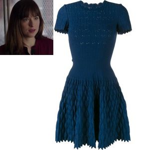 Fifty Shades Darker Ana S Turquoise Teal Drop Waist Dress Fsd Fiftyshadesdarker 50shades Dark Outfits Fashion Fashion Classy