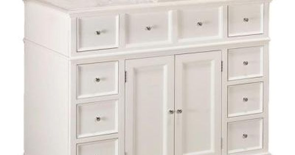 Home Decorators Collection Hampton Harbor 44 In W X 22 In D Bath Vanity In White With Natural