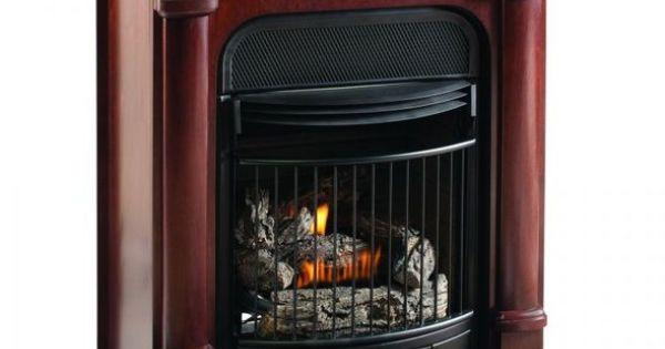 Procom Compact Vent Free Gas Fireplace Dual Use Surround