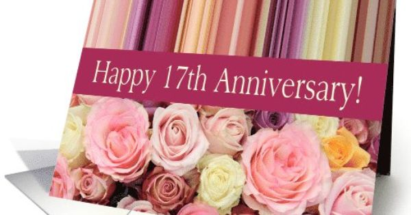 Gifts For 17th Wedding Anniversary: 17th Wedding Anniversary Card
