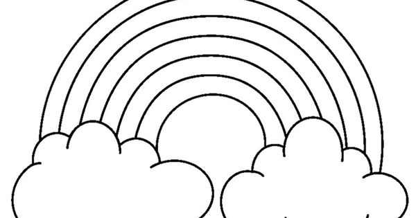 Rainbow Coloring Pages With Color