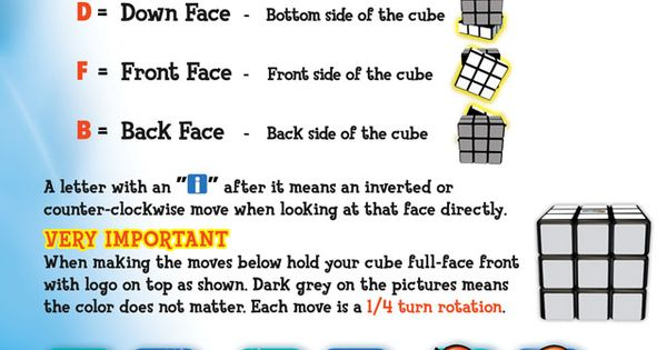 Write a system of equations and solve rubiks cube