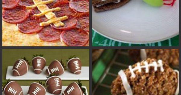 Football themed food SOOOO ready for football season!!! Go BEARS :)