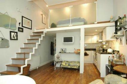Decorar Un Apartamento Tipo Estudio Decoracion De Interiores Y Exteriores Estiloydeco Small Loft Apartments Tiny Loft Loft Apartment Decorating