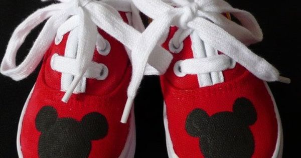 OMG - Mickey Mouse tennis shoes. Ashley, I think Kenzie needs these!