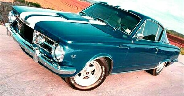 Teal 1966 Plymouth Barracuda Plymouth Barracuda Classic Cars Muscle Vintage Muscle Cars