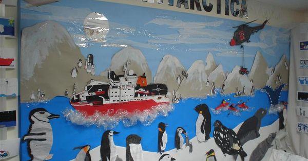 Antarctica op het bord | inrichting van de klas ...