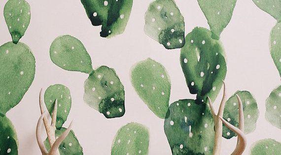inspiration du jour 8 cactus peintures murales et murs contrastants. Black Bedroom Furniture Sets. Home Design Ideas