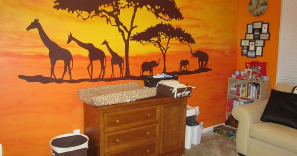 African Safari Mural, now I have to find someone talented! MaryJo McCallum