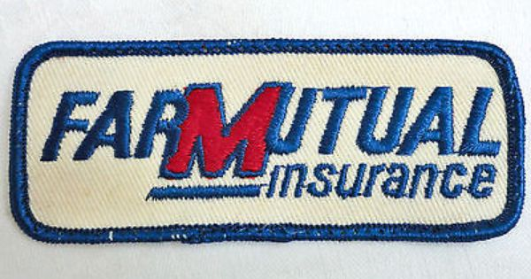Vintage Advertising Farmutual Insurance Cloth Logo Patch Iowa Farm Agriculture Vintage Farm Farm Seed Vintage