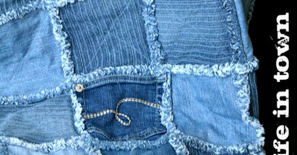 Quilt Inspiration: Free pattern day ! Denim quilts... Old jeans that no