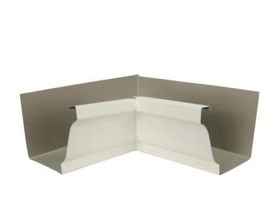 Amerimax Home Products 5 In Bone Linen Aluminum Inside Miter Box 5inmli The Home Depot Box Gutter Diy Gutters Gutter Colors
