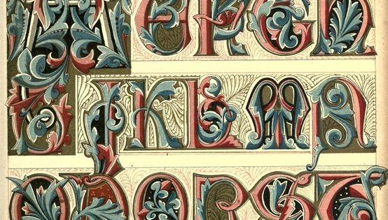 fb671241f1169b316897d14c85a0f955 Illuminated Alphabet Letter Template on