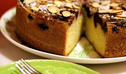 Almond Buttermilk Cake With Cherries | Recipe | Cake Slices, Almonds ...