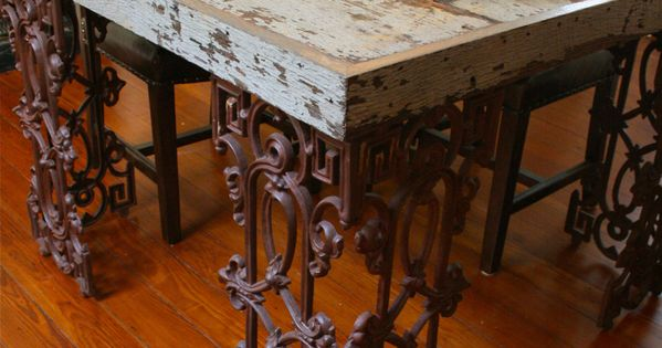 New Orleans Dining Room Table Made From Reclaimed Wood and  : fb68ba6e89009a2d2d6df5fb5da52be7 from www.pinterest.com size 600 x 315 jpeg 36kB