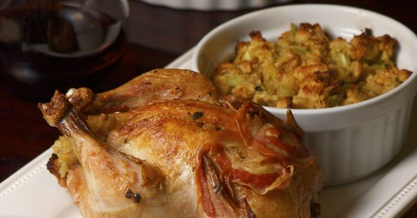 Cornish game hen, Cornbread stuffing and Hens on Pinterest