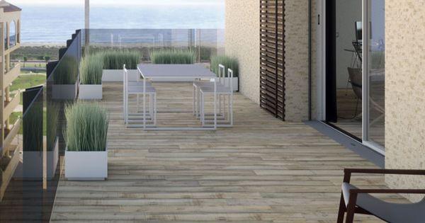 Suelo porcelanico imitacion madera envejecida terraza - Suelo terraza madera ...