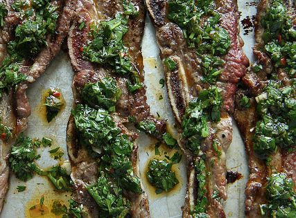 Argentinean-Style Grilled Short Ribs With Chimichurri | Recipe | Short ...