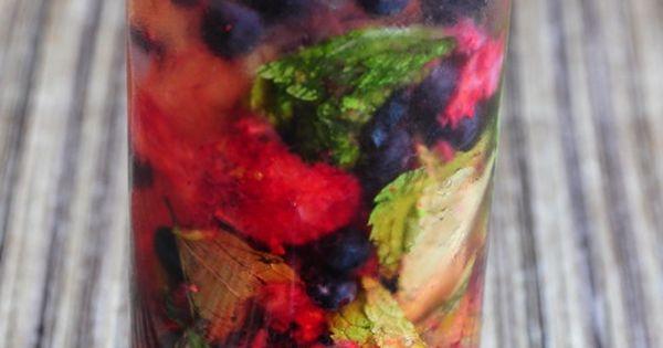 strawberry blueberry mojito.