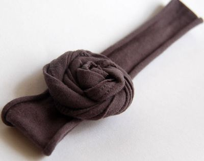 Tee Shirt Flower Headband