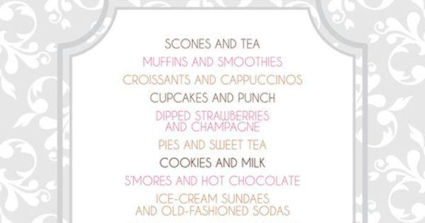 sweet treat ideas wedding reception