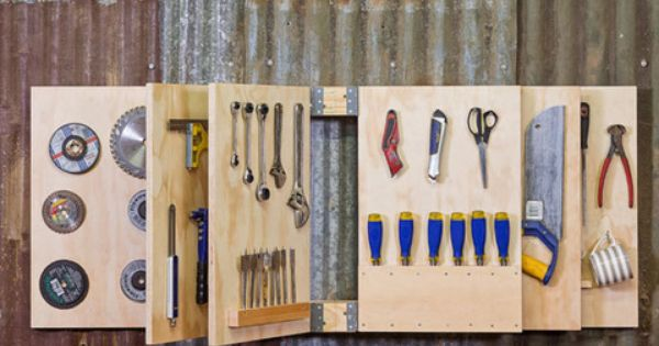 How to make a tool storage unit better homes and gardens Yahoo better homes and gardens