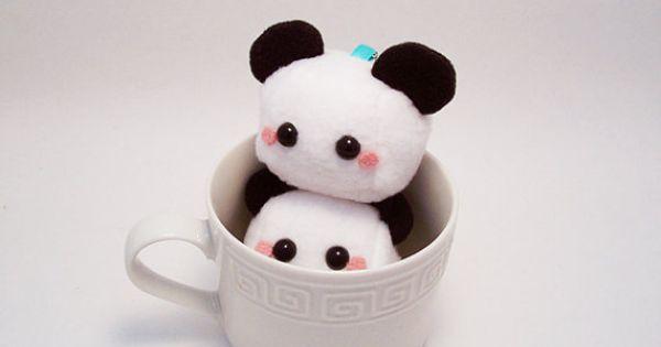 Baby Panda Sugar Cube Plushie Keychain Plushie
