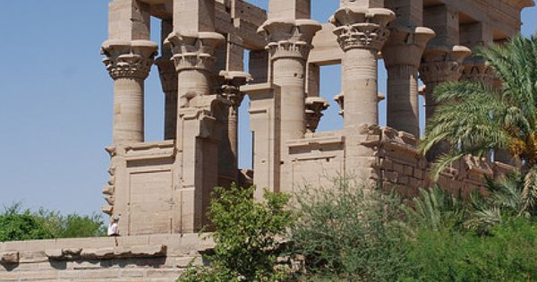 Philae Temple of Isis, on Agilkia Island in Lake Nasser, Egypt. The